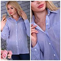 Рубашка женская модная в полоску хлопок Rc173