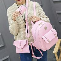 Элегантный женский рюкзак с клатчем