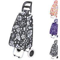 Тачка сумка с колесиками кравчучка 96см MH-1900 Flower Black