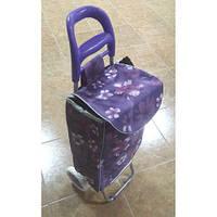 Тачка сумка с колесиками кравчучка 96см MH-1900 Flower Violet