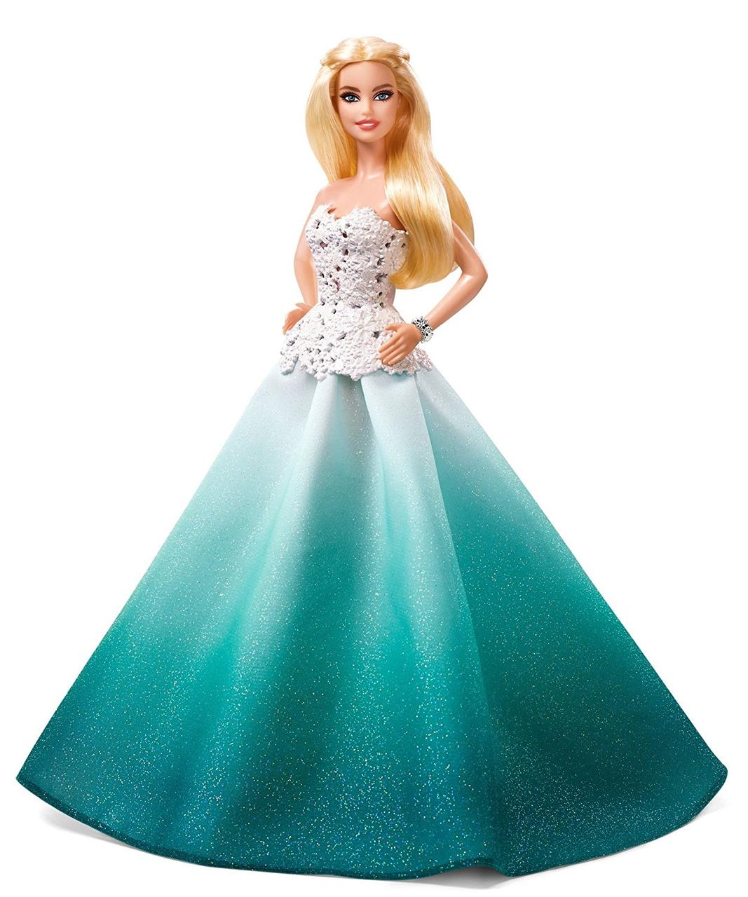 Кукла Барби Barbie коллекционная Праздничная в аква зеленом платье Barbie Holiday Doll DGX98