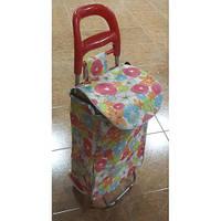 Тачка сумка с колесиками кравчучка 96см MH-1900 Flower Red