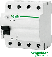 Устройство защитного отключения IDK 4р. 63А АС 30  Schneider Electric(УЗО)