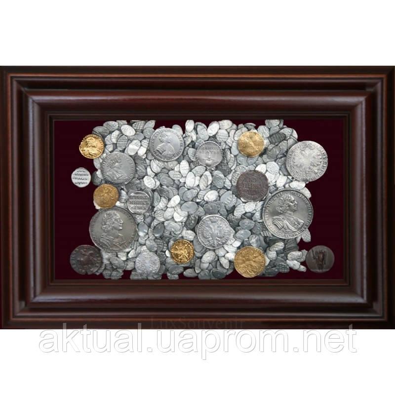 Коллаж Монеты эпохи Петра I