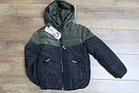 Теплая куртка на синтепоне ( подкладка- мех )   8- 10  лет Цвет хаки