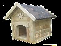 Будка для средней собаки | Утепленная | Двускатная | Блокхауз | Сосна