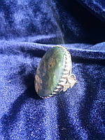 Кольцо с натуральным камнем Агат
