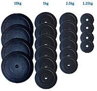 Набор WCG Premium 107 кг Штанга(2шт) + Гантели(2шт) Пластиковые Диски