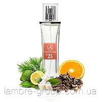 Парфюмированная вода Lambre № 25 (в стиле MAGIE NOIRE от Lancome) 50 ml
