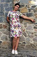 Летнее женское платье из стрейч-шифона П18