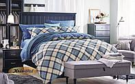 Двуспальный комплект постельного белья евро 200*220 сатин (7012) TM KRISPOL Украина