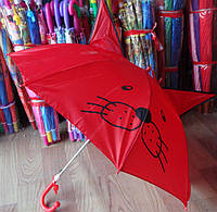 Милые детские зонты с ушками и мордочкой, со свистком трость