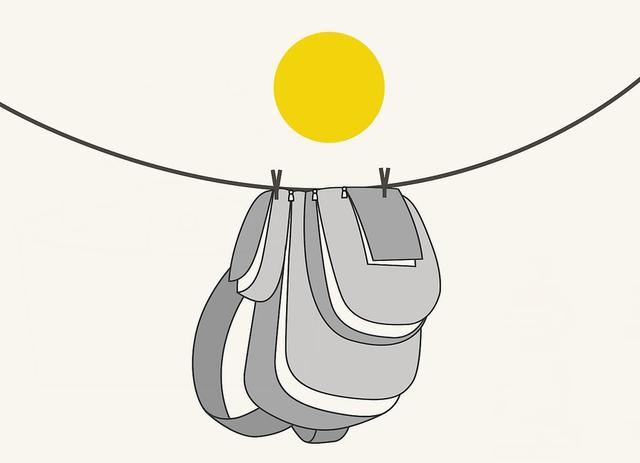 Машинная стирка рюкзака этап 6