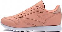 Купить кроссовки Reebok Classic Leather Pink Salmon.