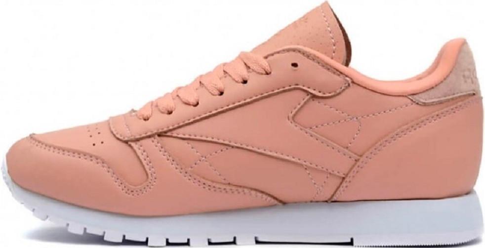 Купить кроссовки Reebok Classic Leather Pink Salmon. - Интернет-магазин