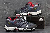 Зимние кроссовки Adidas AX2 , тёмно синие с красным