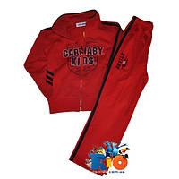Спортивный костюм, из трикотажа двухнитка, для мальчиков ростом 100-150 см