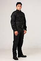 Костюм для работников охраны Титан Грета черного цвета