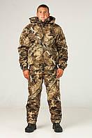 Зимний камуфлированный костюм для охоты и рыбалки Светлый клен