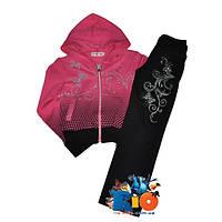 Спортивный костюм, из трикотажа (интерлок), для девочки 6-10 лет