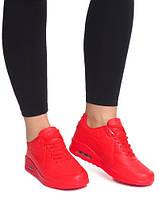Женские яркие, красные кроссовки   размеры 36-41