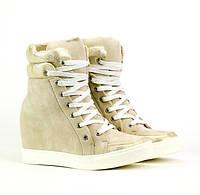 Современные стильные женские сникерсы, ботинки на осень-весна, фото 1