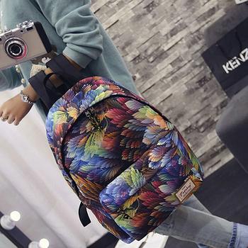 Яркий и модный рюкзак с принтом Тропических лисьтьев