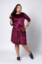 Платье бархат-велюр оливка, фото 2