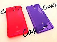 Чехол накладка бампер Duotone для Sony Xperia V LT25i (2 цвета), фото 1