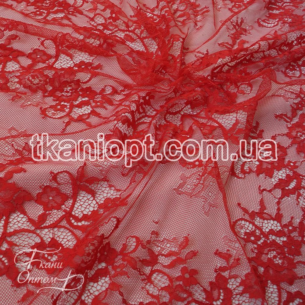 Ткань Гипюр шантильи (красный) представлен в магазине Ткани Оптом 58a3e04bafc