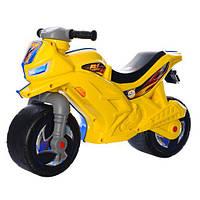 МОТОЦИКЛ для катания 2-х колесный желто-голубой ОРИОН 501 (680x285x470 мм)