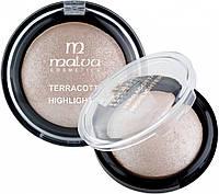 Хайлайтер компактный Malva Crystal Marble Тон 01 мерцающий серебряный