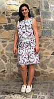 Летнее женское платье без рукавов П18