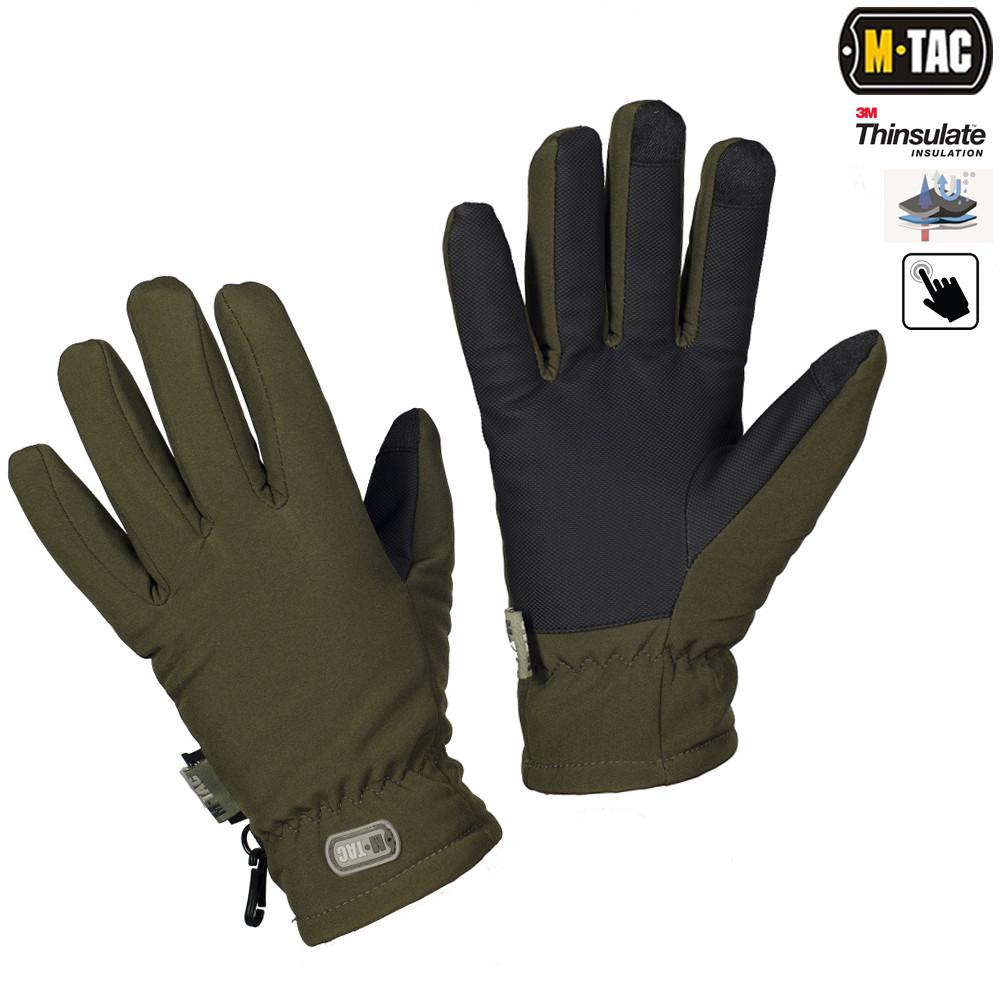 M-Tac перчатки Soft Shell Thinsulate OLIVE