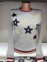 Тоненький свитер Звезды. Свитер. Одежда. Интернет-магазин. Женская одежда. Недорого.