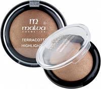 Хайлайтер компактный Malva Crystal Marble Тон 03 мерцающий золотистый