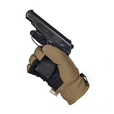 M-Tac перчатки Soft Shell Thinsulate Coyote Brown, фото 2