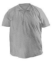 Футболка мужская поло большого размера серого цвета