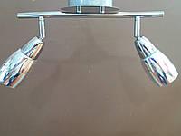 Люстра СПОТ 3D потолочная на два 2 плафона 160586