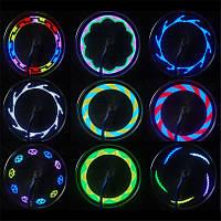 Подсветка для колёс велосипеда 14 диодов. Подсветка на спицы 30 рисунков.