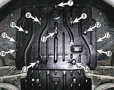 Защита двигателя Audi A4 B8 (2008-2012) Полигон-Авто