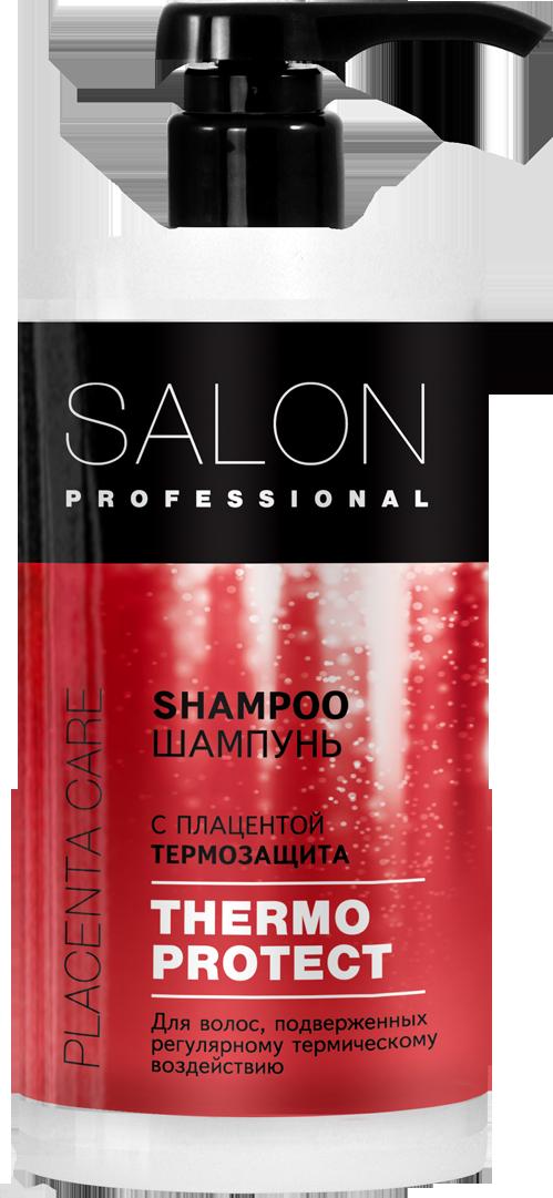 """Шампунь с плацентой для поврежденных волос Термозащита  ТМ """"Salon Professional"""" , 1000 мл."""