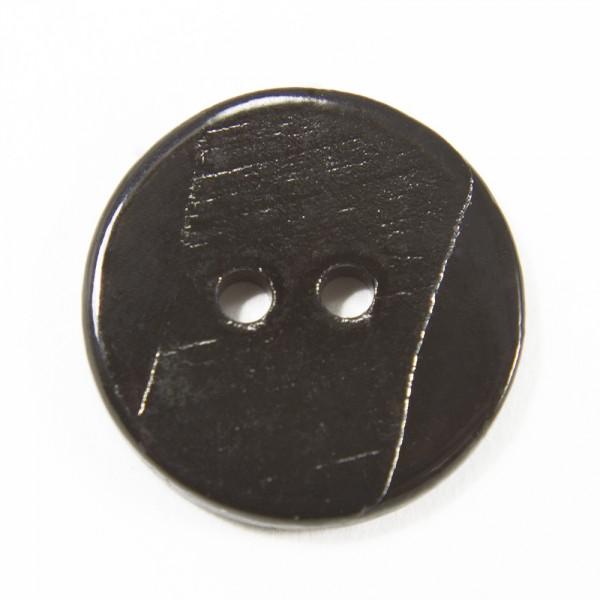 Пуговица И153 ракушка чёрная, D 16 мм