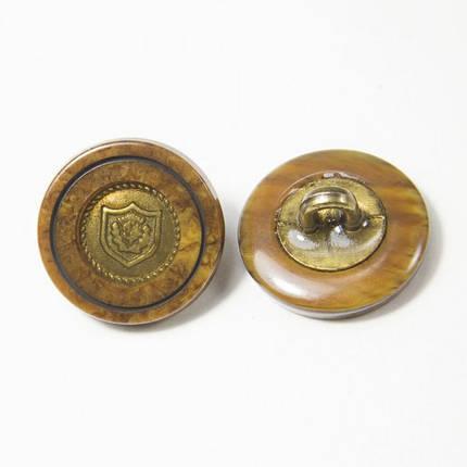 Пуговица И158 комбинированная коричнево-латунная, D 16 мм, фото 2
