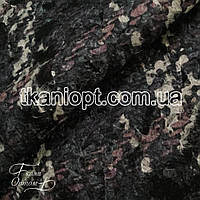 Ткань Пальтовая ткань шерсть букле (серый)