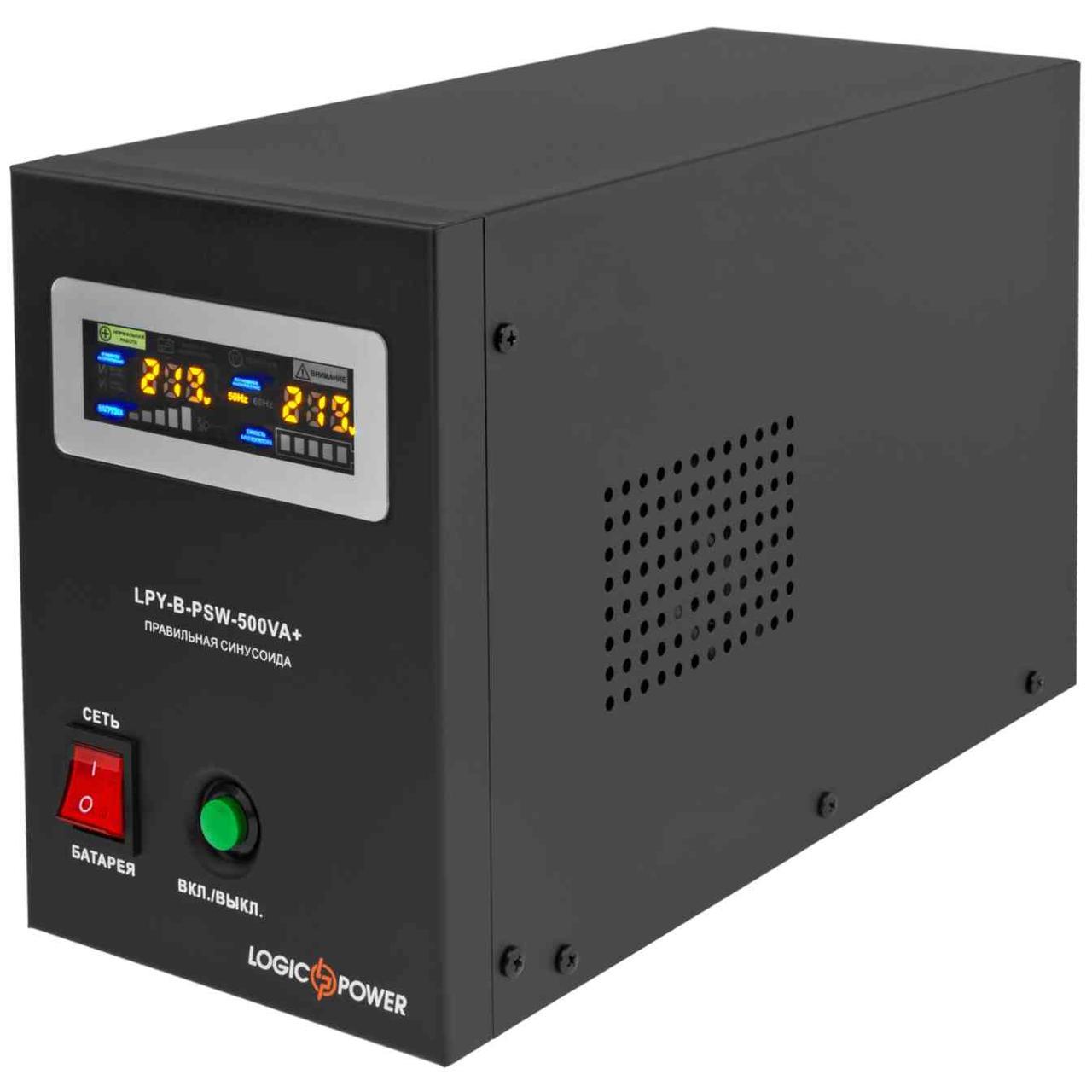 ИБП LogicPower 500VA (350Вт) под внешнюю батарею 12 Вольт
