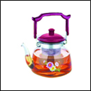 Чайник стекло огнеупор Ø=150мм V=1100мл(шт)