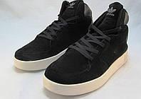 Кроссовки  женские Adidas Tubular замшевые черные (р.38,39)