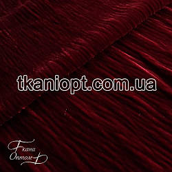 Ткань Стрейч бархат крэш (красный)