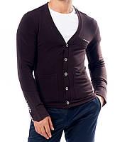 Кофта мужская коричневый:  M- 9047